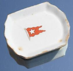 White Star Line Rms Olympic Titanic Era Pattern 3rd Cl Butter Pat C-1910/20 A/f