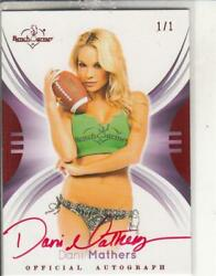 2014 Benchwarmer Signature Series Dani Mathers One Of One Auto Card Sp 1/1