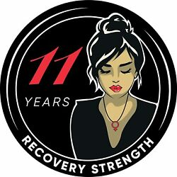 Woman Serenity 11 Year Aa/na Sobriety Medallion - Tri-plate Eleven Year Chip/coi