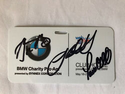 2017 Bmw Celebrity Pro-am Entry Id Autographed By Aaron Rodgers Bas Coa Rare