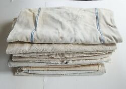 Lot Of 11 Heavy Med And Lg Vintage Feed Bags Sacks