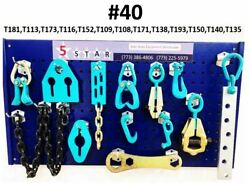 Set40 - 13 Piece Set Heavy Duty Auto Body Frame Machine Pulling Tools Clamps
