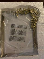 New Pottery Barn Monique Lhuillier Lara Floral Gold 5x7 Table Frame Sold Out Nwt