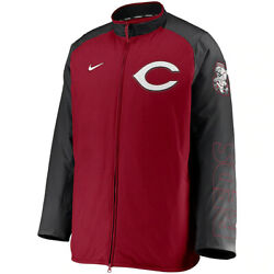 New 2021 Mlb Cincinnati Reds Nike Authentic Collection Dugout Full-zip Jacket