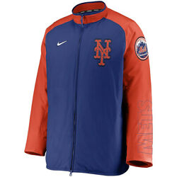 New 2021 Mlb New York Mets Nike Authentic Collection Dugout Full-zip Jacket