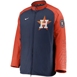 New 2021 Mlb Houston Astros Nike Authentic Collection Dugout Full-zip Jacket
