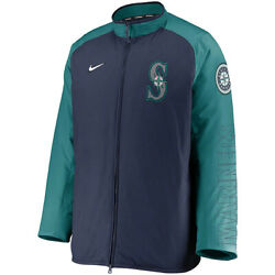New 2021 Mlb Seattle Mariners Nike Authentic Collection Dugout Full-zip Jacket