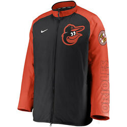 New 2021 Mlb Baltimore Orioles Nike Authentic Collection Dugout Full-zip Jacket