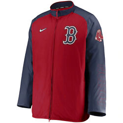New 2021 Mlb Boston Red Sox Nike Authentic Collection Dugout Full-zip Jacket