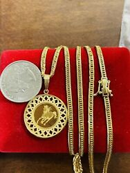 K18 Japan Gold Solid Mens Womenandrsquos 8 Cut Horse-queen Necklace 22andrdquo Long 3mm 19.14g