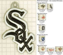 Mlb Team Logo Decorative Fobs Al Central, Various Designs And Keychain Options
