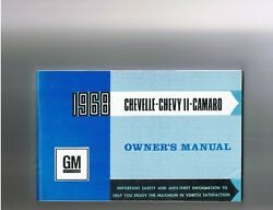 1968 Canadian Chevelle, Nova, Camaro Owners Manual, Nos - Sale, 85, Was 125