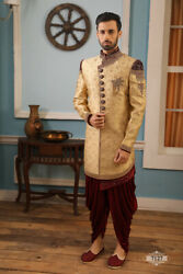 Indian Wedding Bollywood Wear Traditional Hand Embroidered Indo Western India