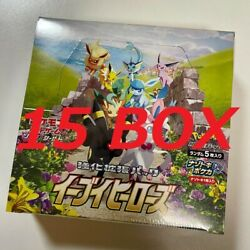 [15 Box Set] Pokemon Card Enhanced Expansion Pack Eevee Heroes Box S6a Japanese