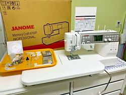 Janome Memory Craft 6700p-qc High Speed Sewing And Quilting Machine
