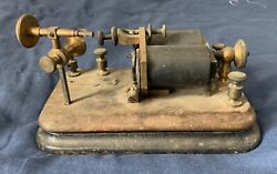 Vintage Jh Bunnell 150 Ohms Telegraph Relay Sounder Brass Wood Cast Iron Base