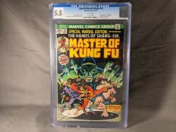 Special Marvel Edition 15 Cgc 5.5 1st Shang-chi The Master Of Kung-fu