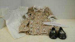 American Girl Felicity Older Style Meet Dress Shift And Shoes Fe4