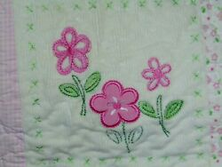 Carter's Child Of Mine Pink Flowers Patchwork Quilt
