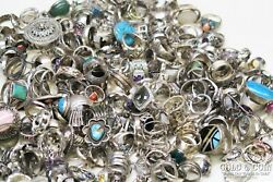 Bulk Lot Sterling Silver Rings 1000 Dwt All Types Styles Sizes Many Signed 20829