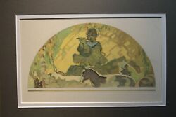 John Ford Clymer 1907-1989 Rca American Original Watercolor Painting Religious