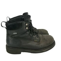 Wolverine Work Boots Black Used Gore-tex Vibram Safety Toe Size Us 9.5
