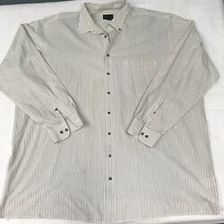🌴harbor Bay Men's Big And Tall 3xlt Multicolor Striped Button Down Collared Shirt