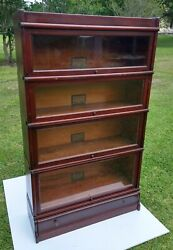 Globe Wernicke Stacking Barrister Bookcase 6 Piece 598 1/2 - For Restoration