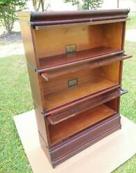Globe Wernicke Stacking Barrister Bookcase 5 Piece - For Restoration