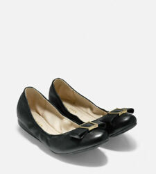 Cole Haan Grand.Øs Emory Bow Ballet Flat Leather Black W09917