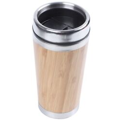 30xbamboo Coffee Cup Stainless Steel Coffee Travel Mug With Leak-proof Cover