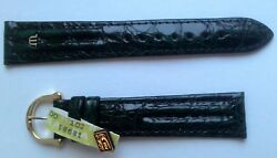 New Maurice Lacroix Dark Green Croco Leather Strap Band 19mm Width With Buckle.