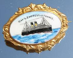 Canadian Pacific Line Rms Empress Of France Painted Enamel Sold In Barbers Shop