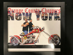 Orange County Choppers Framed Picture And Hat