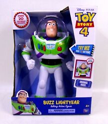 Disney-pixar Toy Story 4 Buzz Lightyear Talking Action Figure 12andrdquo Tall 20 Sounds