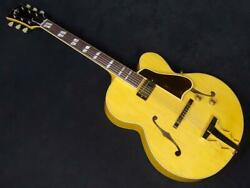 Used Archtop Tribute At350 Natural Electric Guitar Free Shipping