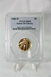 Modern Commemoratives 1986-w Statue Of Liberty 5 Pcgs Ms69 95248 Minted Rare