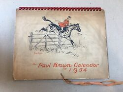 The Paul Brown Calendar for 1954 Signed Limited Edition Brooks Brothers RARE