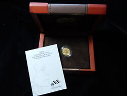 2008-w 5 American Buffalo 1/10 Oz .999 Gold Low Mintage Coin W/ Box And Coa