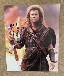 Mel Gibson Signed 10x8 Colour Photo As William Wallace In Braveheart.