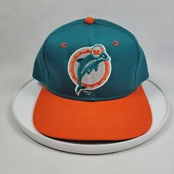 New Vintage Miami Dolphins Sports Specialties Nfl Pro Line Snapback Hat Nos