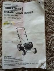 Sears Craftsman Push Mower Model 917 387480 Used Parts Lawn Mower Parts