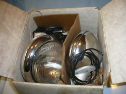 Wow Nos International Harvester Scout Travel All Accessory Fog Lamps Mint Cond.