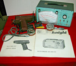 Vintage Knight Kg-375 A And Knight Kg-371 Timing Light