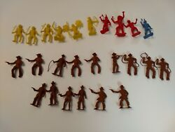 Vintage Plastic Cowboys And Indians Toys - Lot Of 25 Mpc