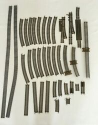 Lot Of 36 Vintage Train Tracks All Marked Atlas Straight Curved Turnout Switch