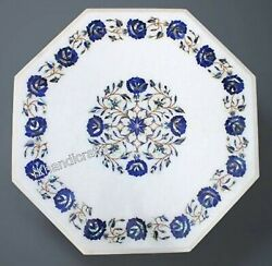 24 Inches Lapis Lazuli Stone Art Coffee Table Top Marble Center Table Home Decor