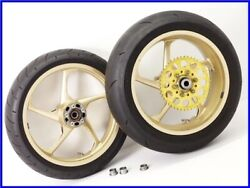 2000 Zx-12r Marvic Penta Magnesium Wheel Front And Rear Set 17×3.50 17×6.25 Uuu