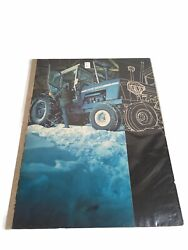 Vintage Print Ad Art 1970and039s Ford Blue Big Farm 9600 Tractors 2 Pages New Giants