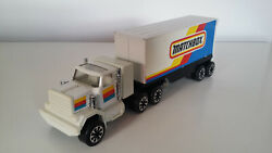 Matchbox Semi Truck With Trailer Tin Plate Made By Clover Toys Korea Very Rare